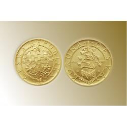 Zlatá mince Svatý Václav Jednodukát Československý