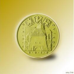 Zlatá mince Mariánský most v Ústí nad Labem Proof