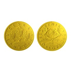 Sada zlatých mincí 5 NZP+tue Karel IV